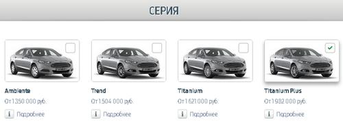 Форд Мондео базовые комплектации