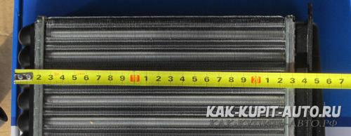 Длина радиатора Калины