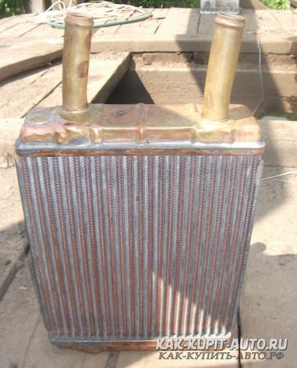 Медный радиатор печки от Волги