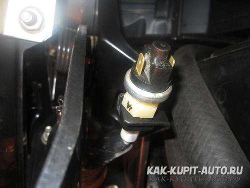 Настройка датчика нажатия педали тормоза