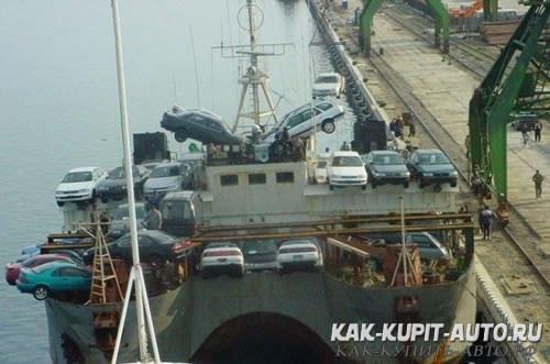 Перевозка автомобилей морем