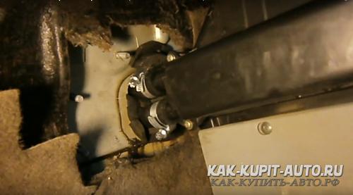 Замена радиатора печки Калина укорочением штуцеров